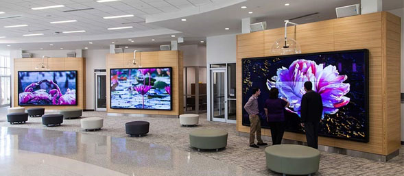 The Touch Surface Is An Extremely Thin, Lightweight, Anti Static Material  Applied Directly To The LED Video Wall, Creating A Protective, Durable  Surface For ...