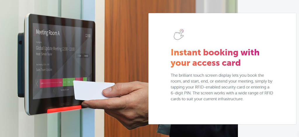 Instant booking with your access card